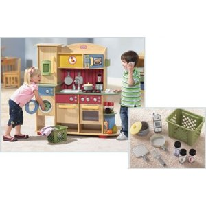 Little Tikes Deluxe Wooden Kitchen Laundry Center Reviews