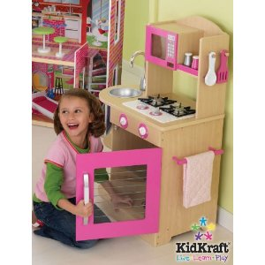 Pink Wooden Toy Kitchen By Kidkraft